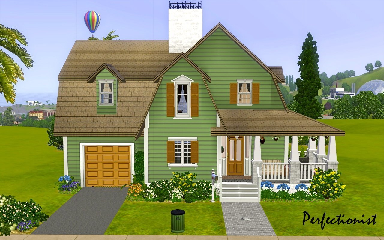 Best Mod The Sims 3 Bedroom Green Country Style House Ts3 With Pictures