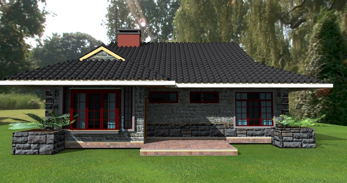 Best Deluxe 3 Bedroom Bungalow Plan David Chola Architect With Pictures