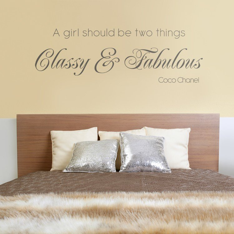 Best Classy Fabulous Quote Wall Decals Stickers Graphics With Pictures