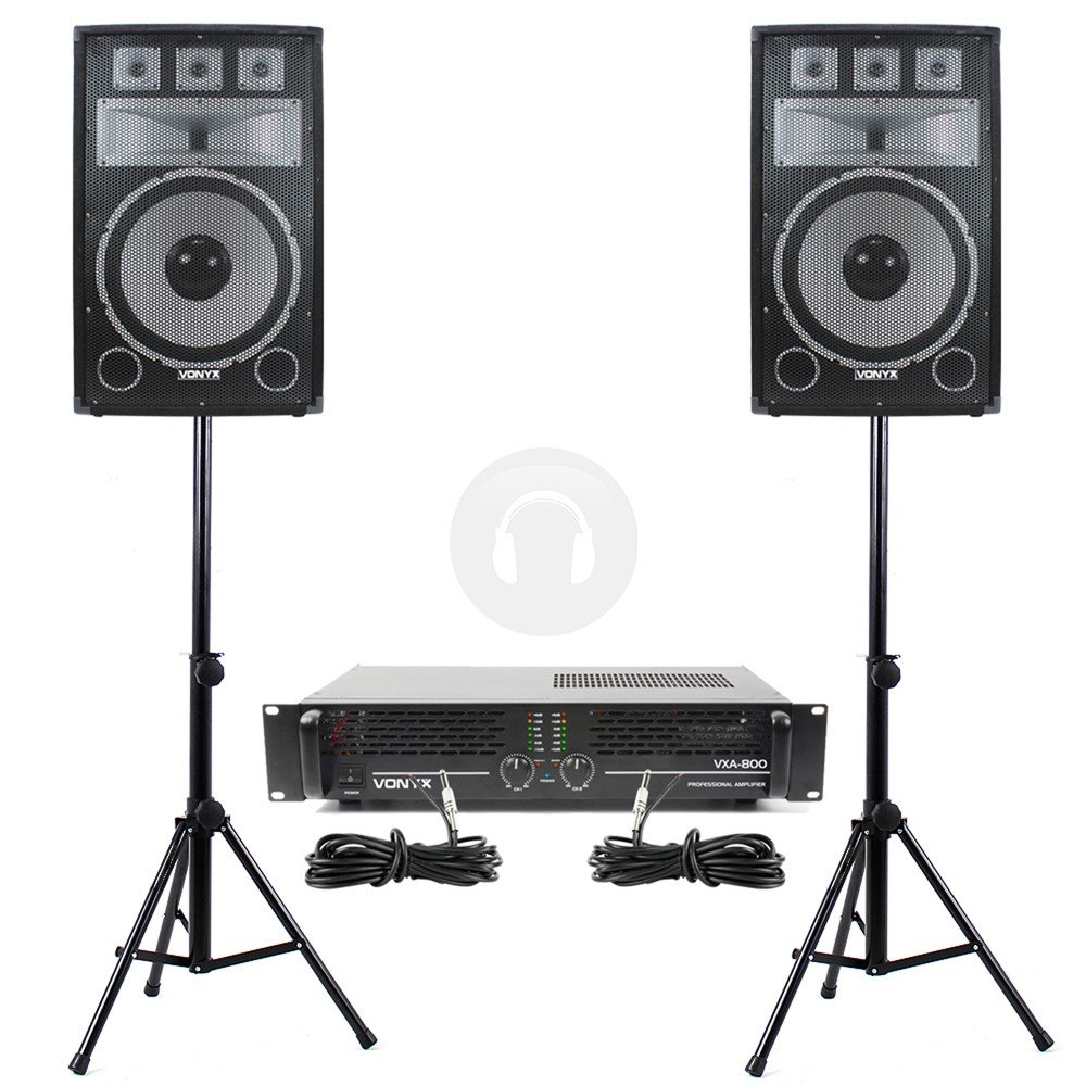 Best 2X 12 Party Pa Speakers Stands Disco Dj Amplifier Bedroom With Pictures