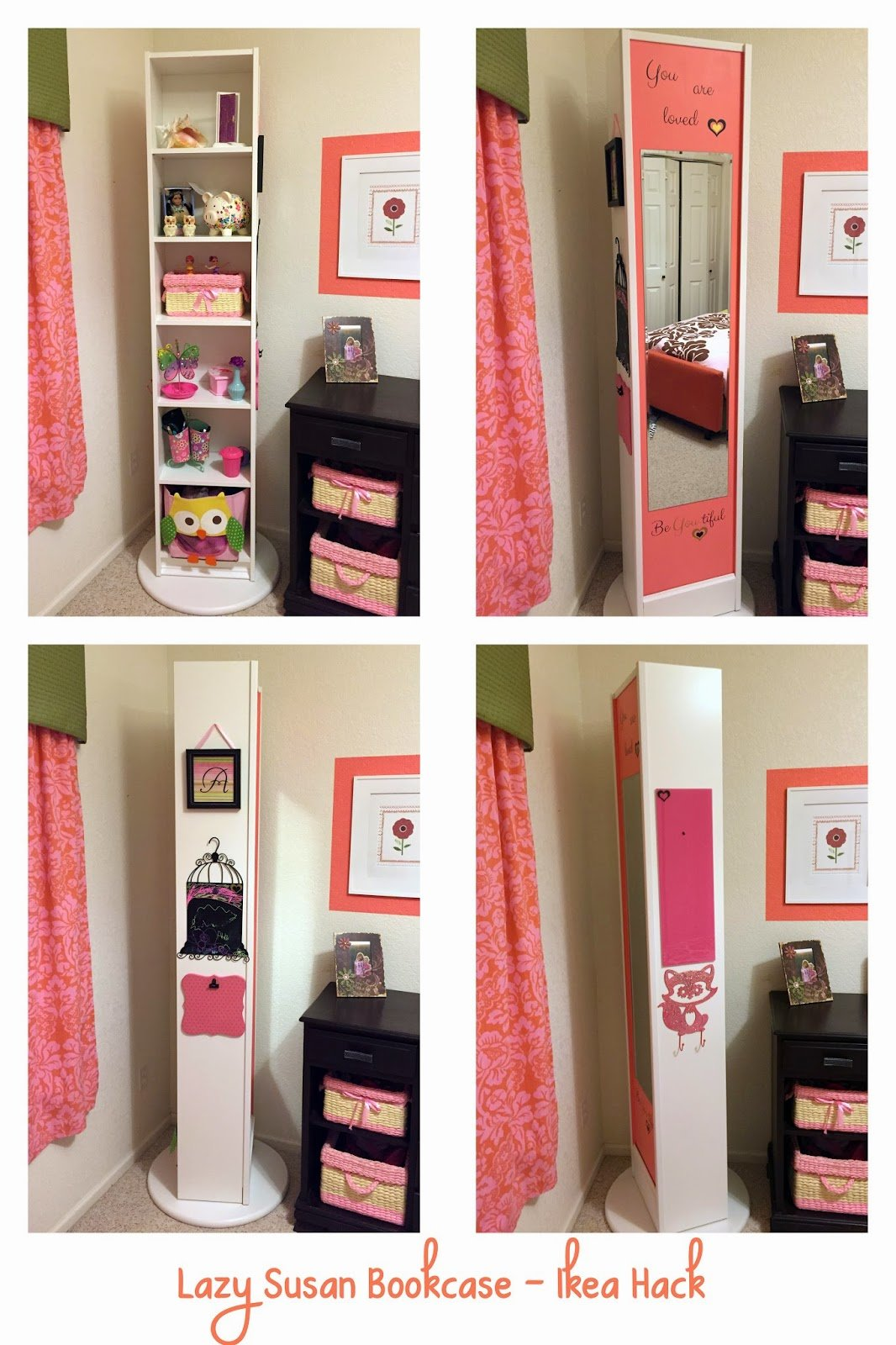 Best Naughton Your Life Lazy Susan Bookcase Ikea Hack With Pictures
