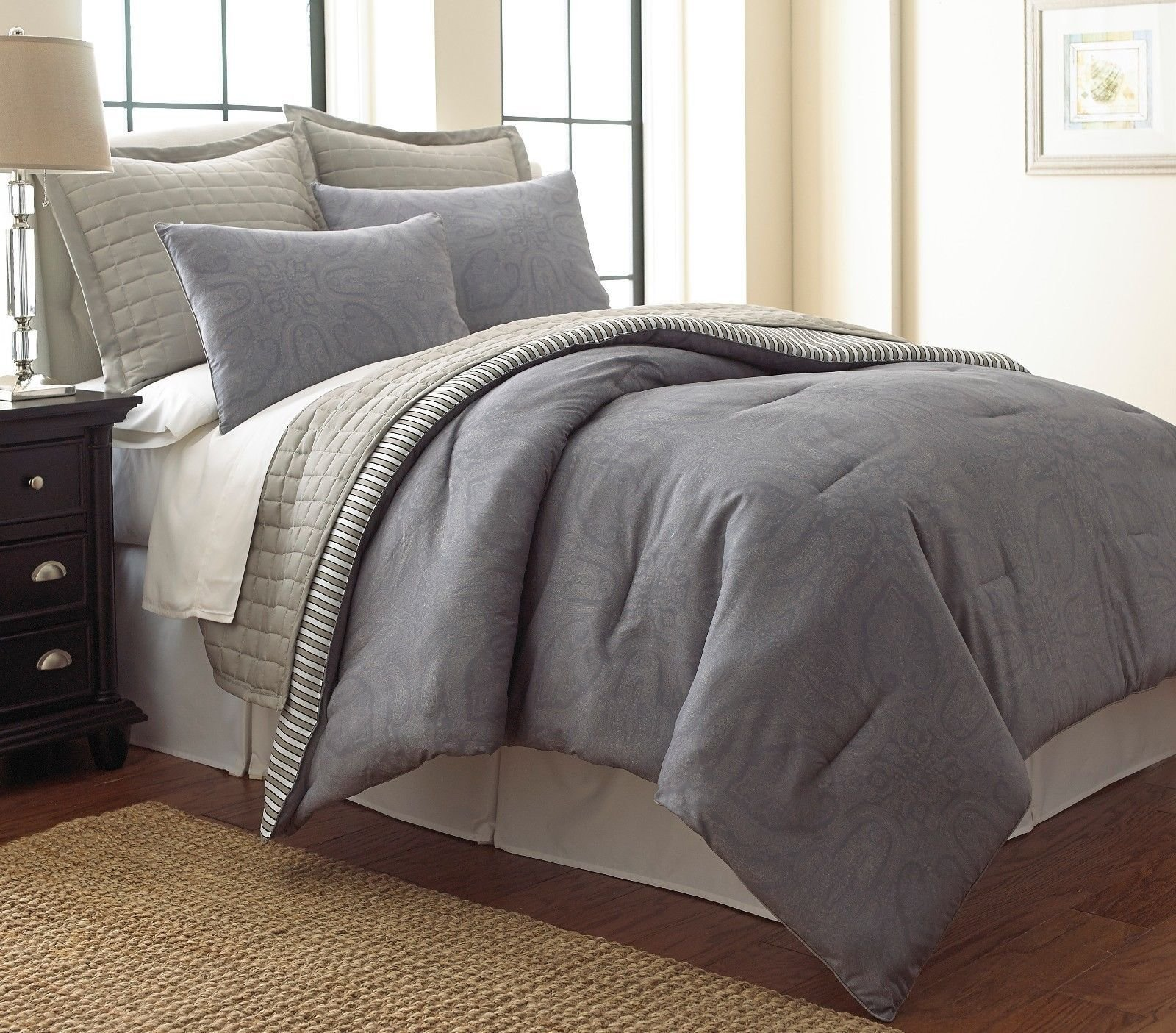 Best New 6 Piece Queen Size Comforter Set Bedroom Bed In A Bag With Pictures