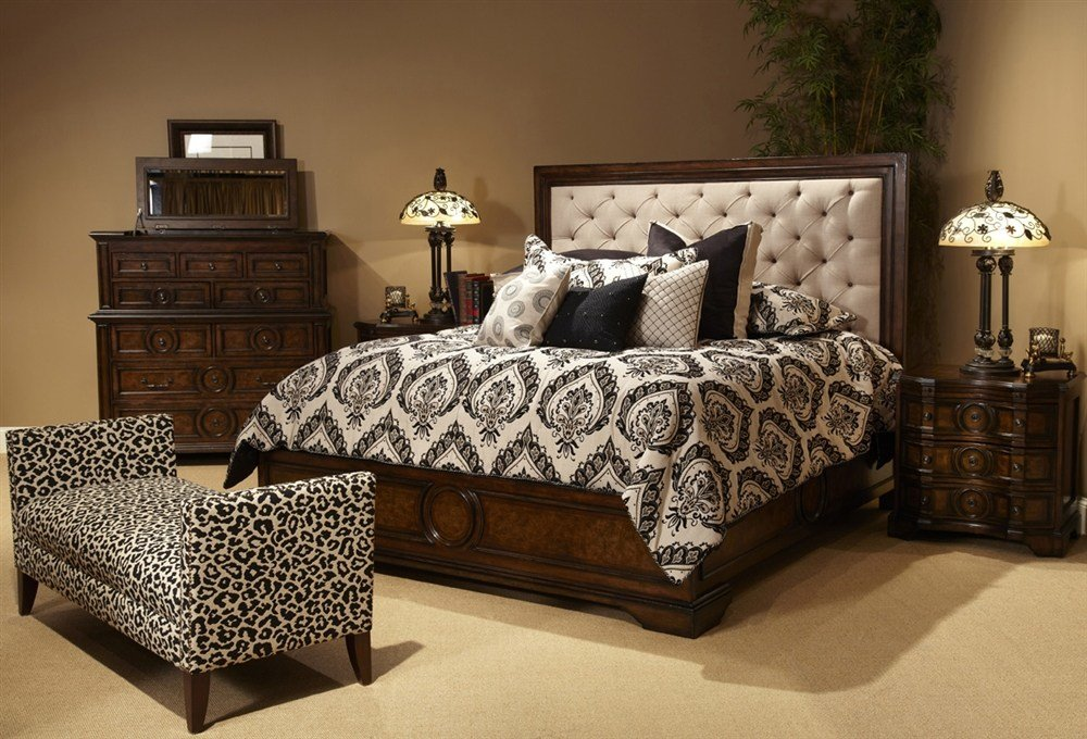 Best Bella Cera King Fabric Tufted Headboard 5 Piece Bedroom With Pictures