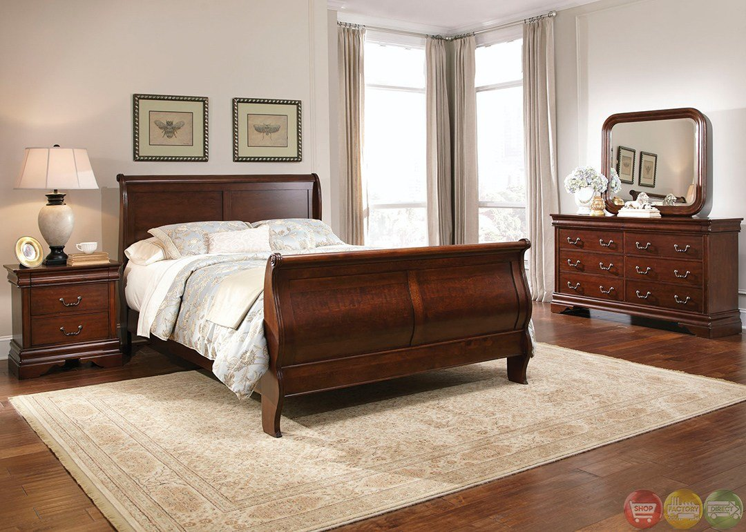 Best Carriage Court Traditional Mahogany Finish Bedroom Set With Pictures