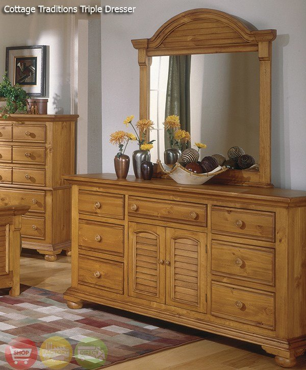 Best Cottage Traditions Distressed Pine Bedroom Furniture Set With Pictures