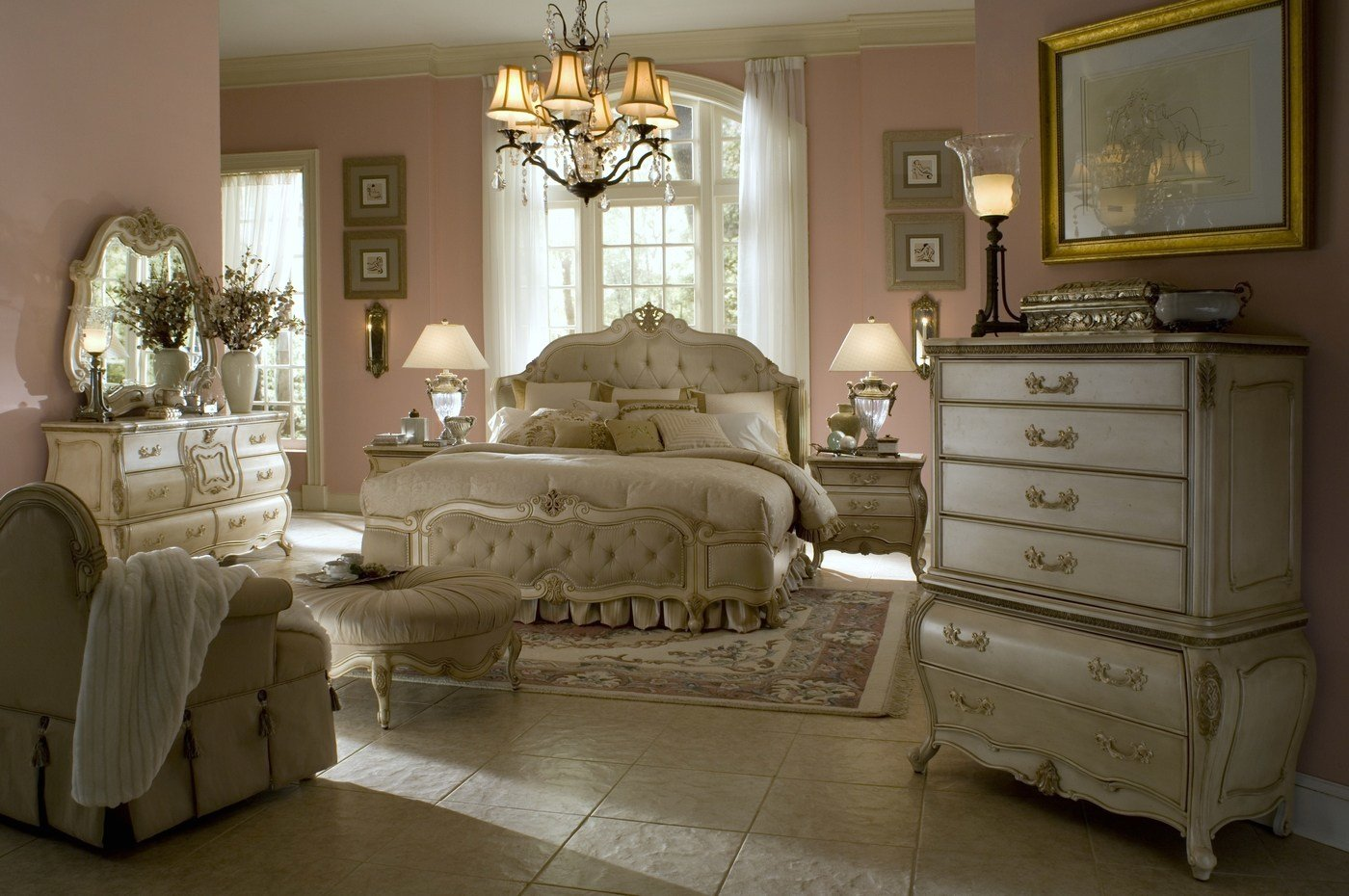 Best Antique White Bedroom Set Aico Bedroom Set With Pictures