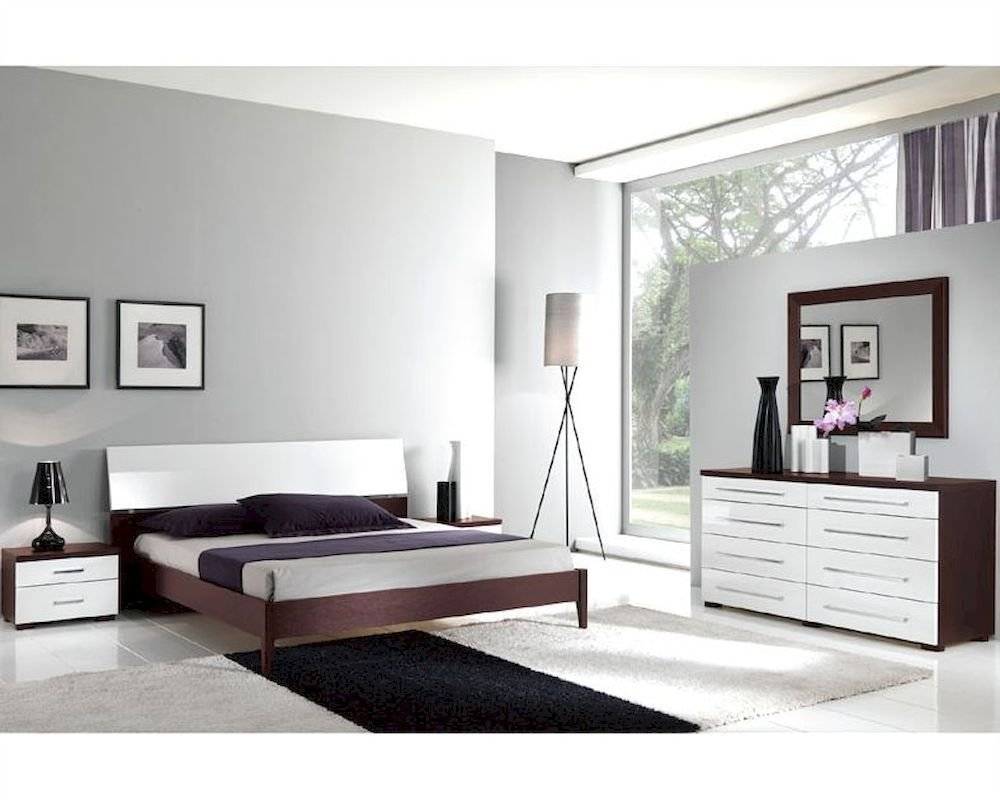 Best Italian Modern Two Tone Bedroom Set 33B221 With Pictures