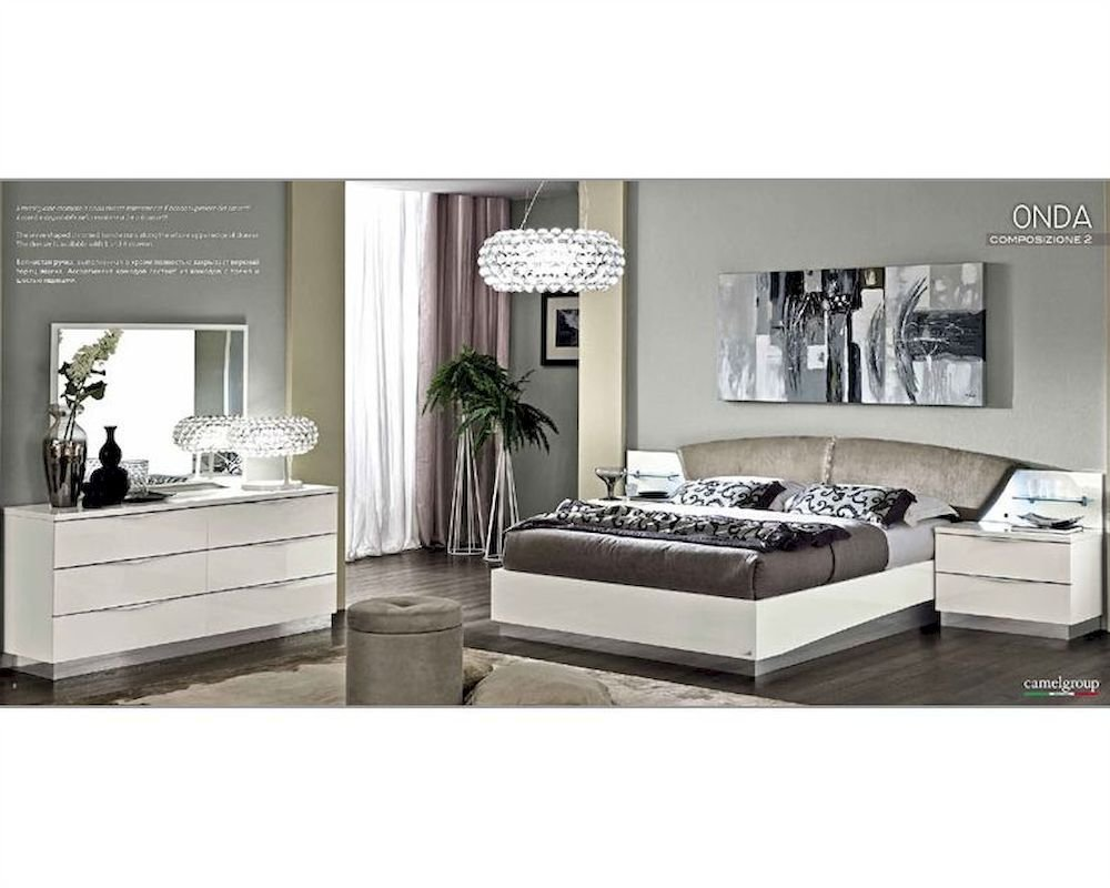 Best Modern Bedroom Set Onda In White Color 3313On With Pictures