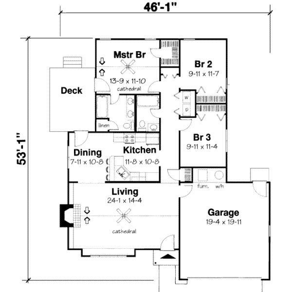 Best 3 Bedroom Section 8 Houses 3 Bedroom Bungalow House Plan With Pictures