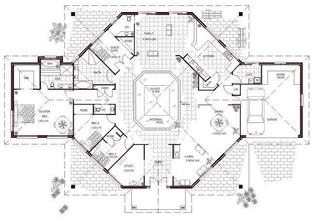 Best 5 Bedroom House With Pool 4 Bedroom House Floor Plans With With Pictures