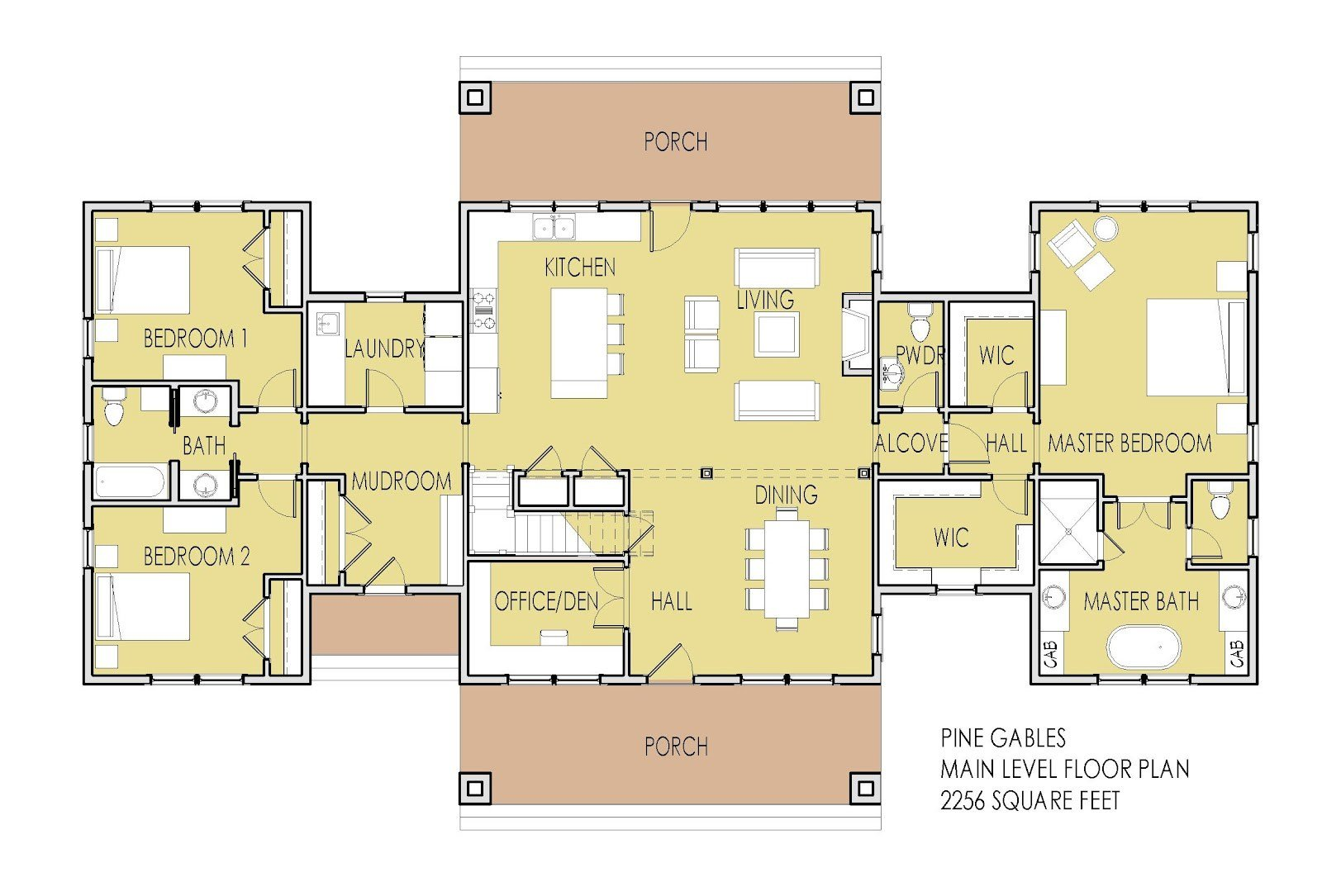 Best 2 Bedroom House Simple Plan House Plans With 2 Master With Pictures