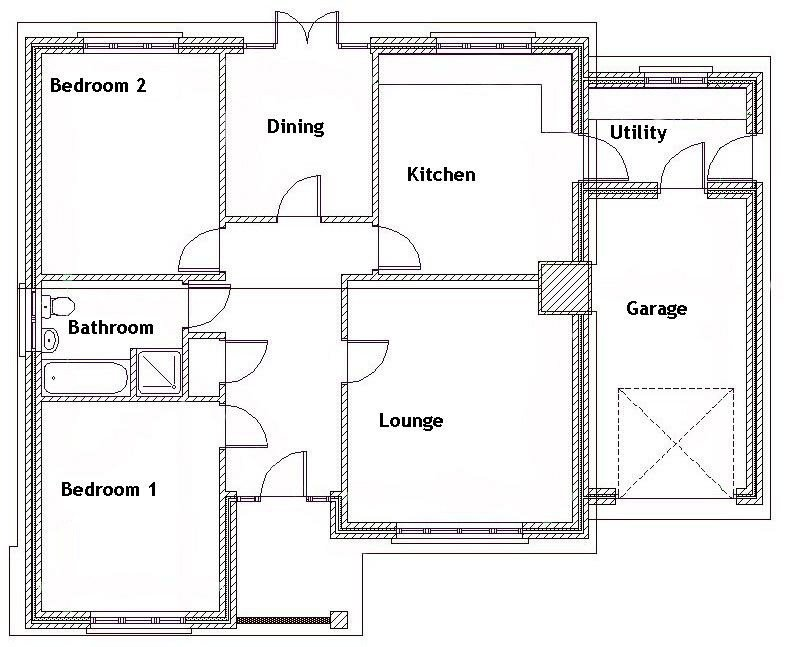 Best 2 Story Bungalow House Plans 2 Bedroom Bungalow Floor Plan With Pictures