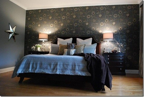 Best Bedroom Wallpaper Feature Wall 1 Decor Ideas Enhancedhomes Org With Pictures