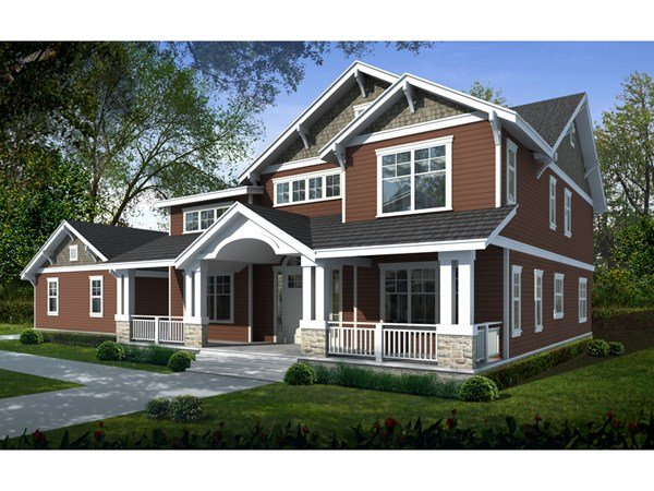 Best Lavina Manor Craftsman Home Plan 015S 0001 House Plans With Pictures