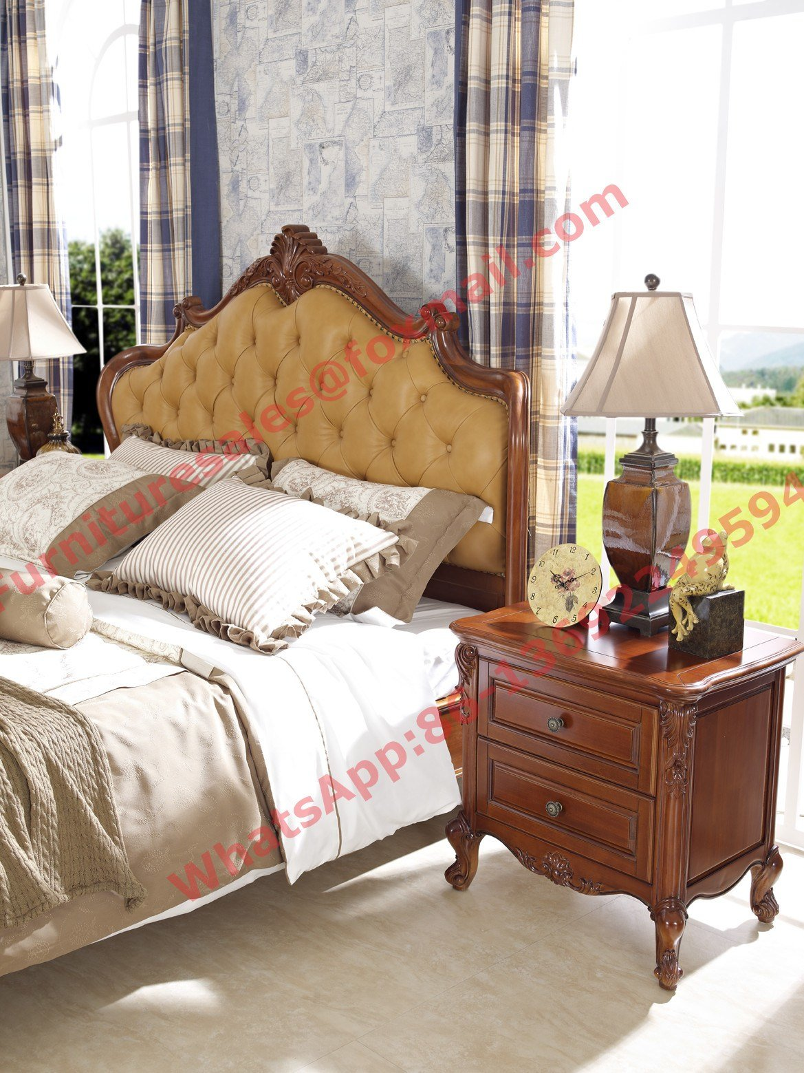 Best Luxury Design In England Country Style Wooden Bedroom Furniture Sets With Pictures