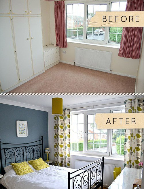 Best Before After A Yorkshire Bedroom Goes From Beige To With Pictures