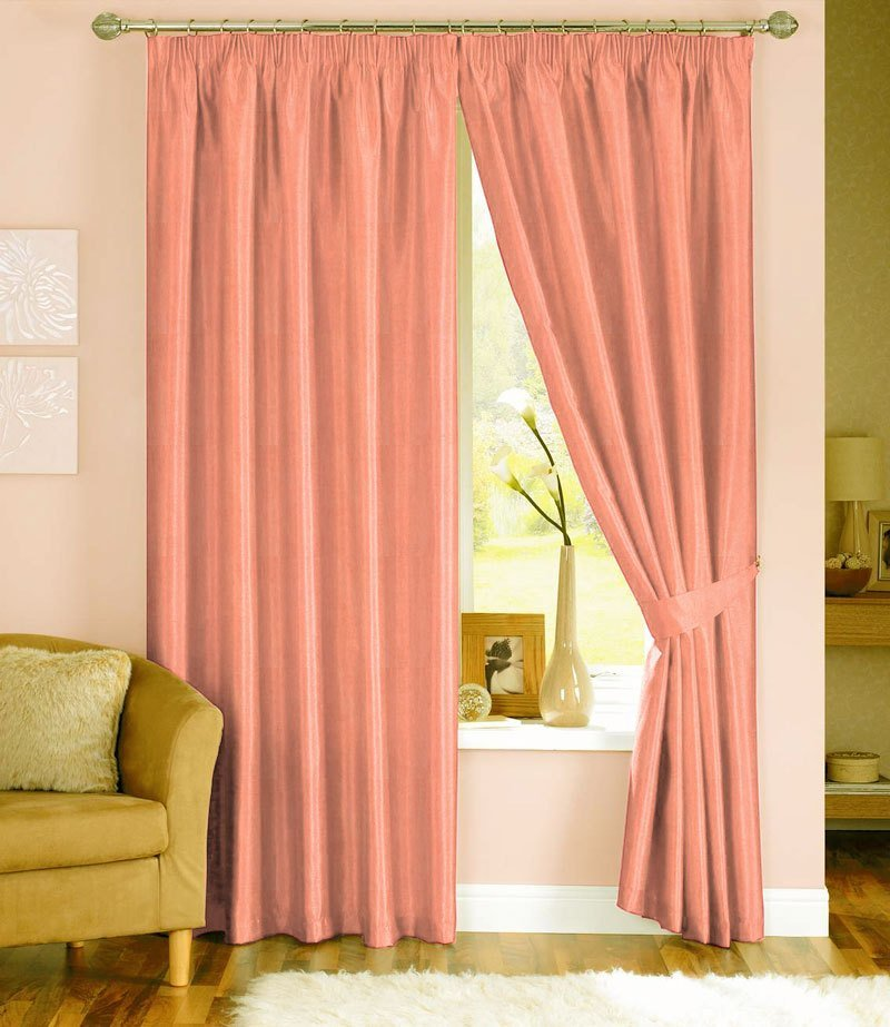 Best Peach Curtains Furniture Ideas Deltaangelgroup With Pictures