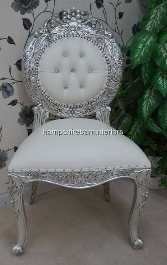 Best An Avalon Ornate Silver Leaf Chair Upholstered In With Pictures