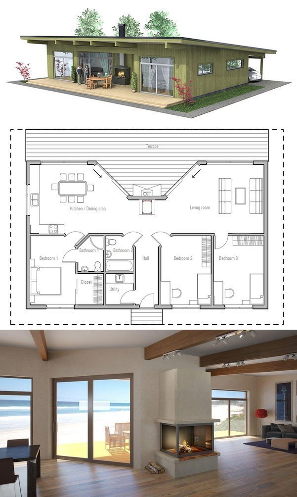 Best Small House Plan With Three Bedrooms Home Decoz With Pictures