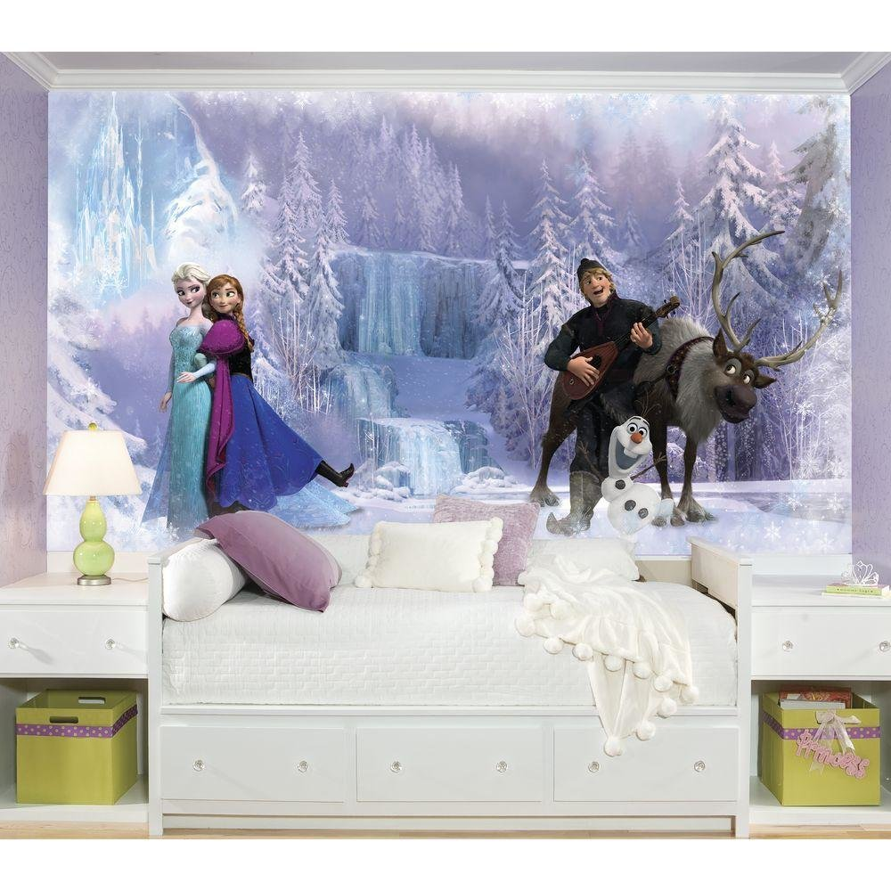 Best Roommates 72 In X 126 In Disney Frozen Chair Rail Pre With Pictures