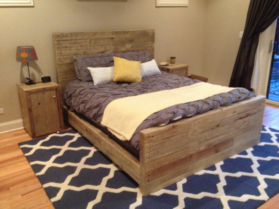 Best Reclaimed Wood Bedroom Frame Oak Color By Witusik Designs With Pictures