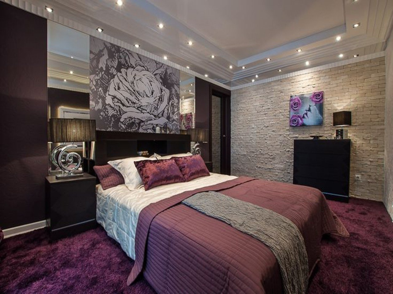 Best Bedroom Purple And Brown Bedroom Pictures Decorations With Pictures