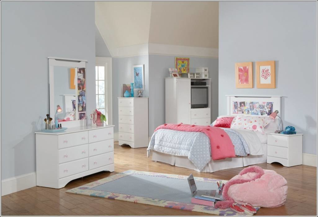 Best Youngsters Bed Room White Furnishings Units House With Pictures