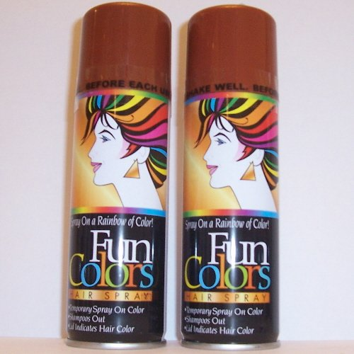 Free 5 Brown Colored Hair Spray Costume Temporary Color Wash Wallpaper