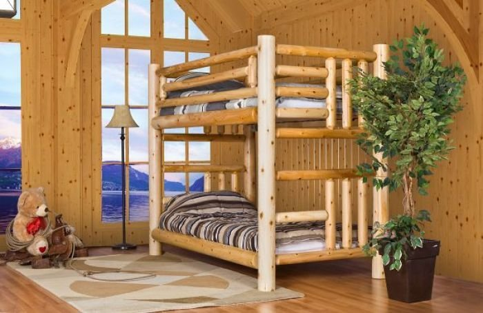Best Cottage Log Bunk Bed Log Furniture And More With Pictures