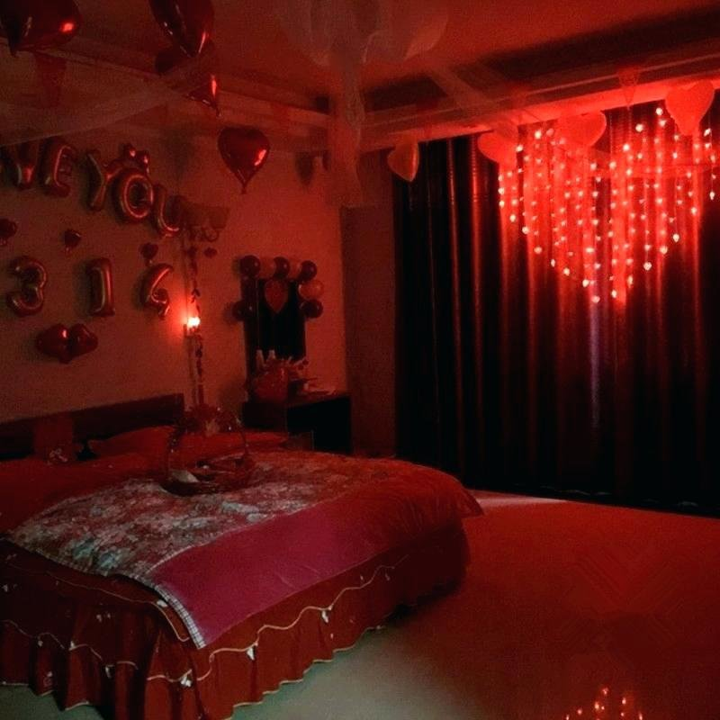 Best Bedroom Rope Lights Red String For Heart Shape Led With Pictures