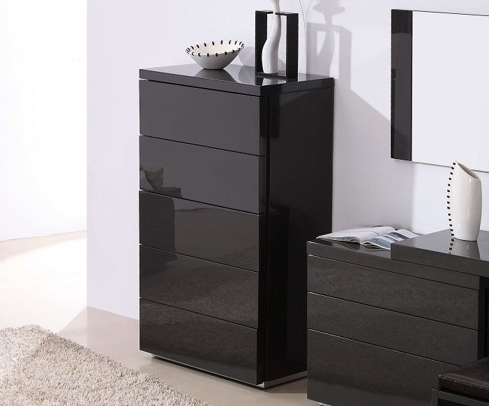 Best Dark Grey Gloss Functional Chest Of Drawers For With Pictures