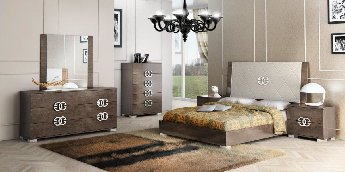 Best Made In Italy Elegant Leather High End Bedroom Sets San With Pictures