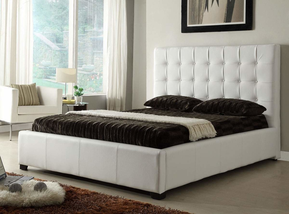 Best Stylish Leather Elite Platform Bed With Extra Storage With Pictures
