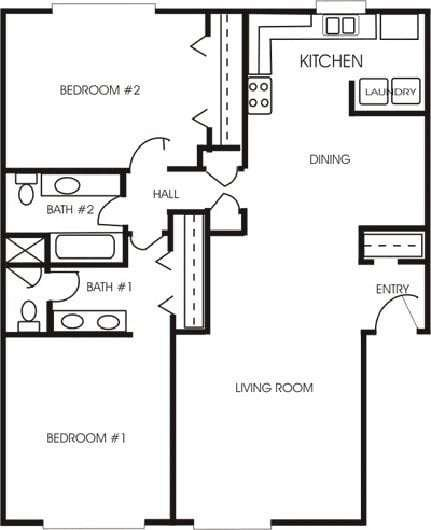 Best New 2 Bedrooms 2 Bathrooms House Plans New Home Plans Design With Pictures