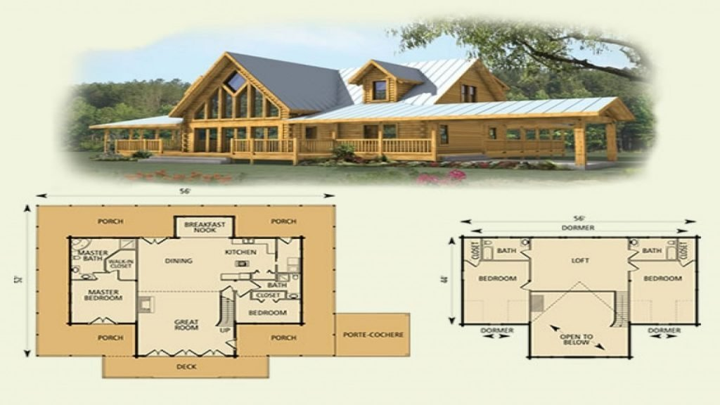 Best Elegant 4 Bedroom Log Cabin Floor Plans New Home Plans With Pictures