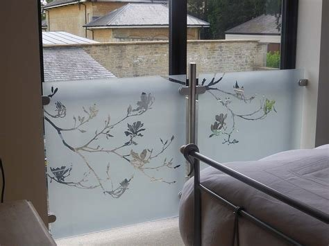 Best Magnolia Etched Design For A Bedroom Privacy Screen With Pictures