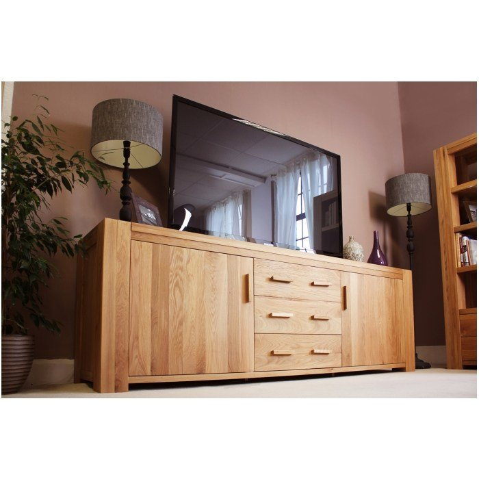 Best Atlas Solid Chunky Oak Furniture Large Living Dining Room Sideboard With Pictures