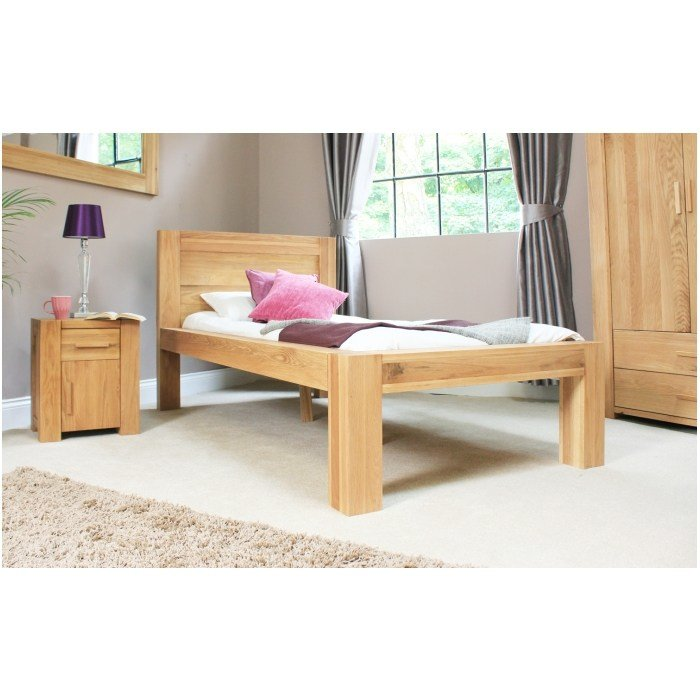 Best Atlas Solid Chunky Oak Bedroom Furniture 3 Single Childrens *D*Lt Bed Ebay With Pictures