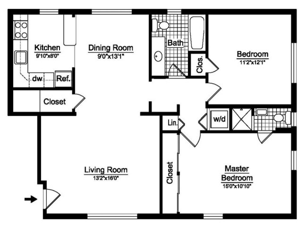 Best 2 Bedroom 2 Bath Open Floor Plans 2 Bedroom 2 Bath House With Pictures