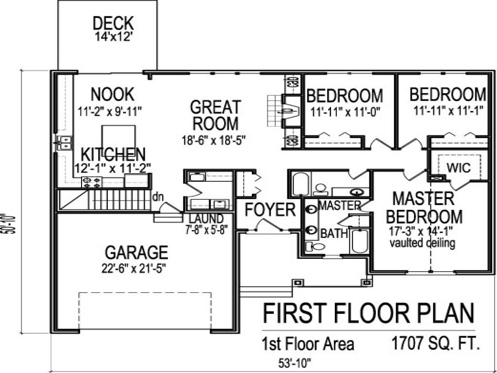 Best 3 Bedroom House Plans With Basement 3 Bedroom 1 Floor Plans 1 Bedroom House Plans With Basement With Pictures