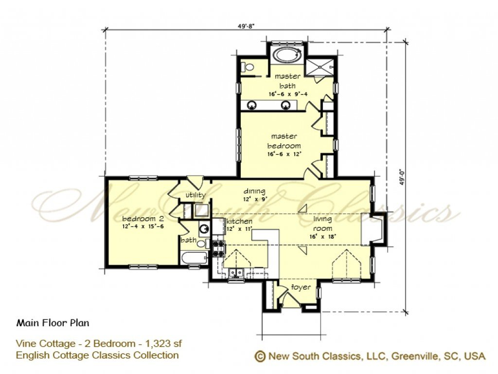 Best 2 Bedroom House Plans With Open Floor Plan 2 Bedroom With Pictures
