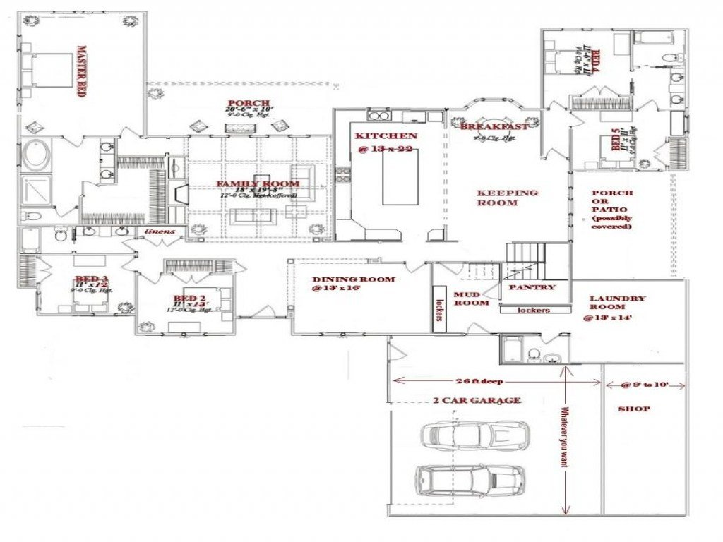 Best 5 Bedroom House Plans One Story Simple 5 Bedroom House With Pictures