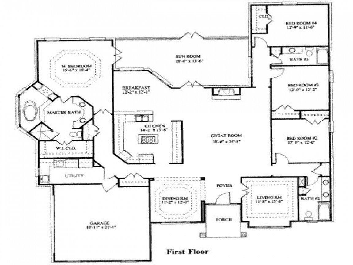 Best 4 Bedroom Ranch House Plans 4 Bedroom House Plans Modern With Pictures
