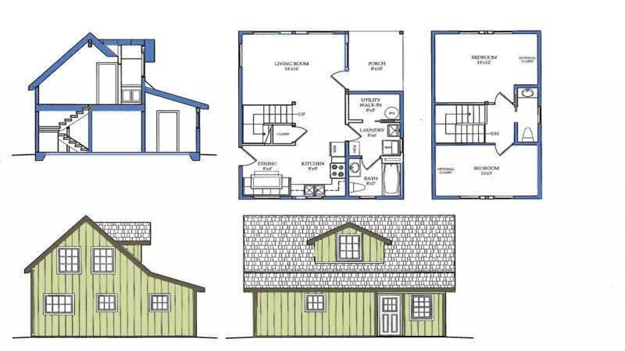 Best Small House Plans With Loft Bedroom Small Courtyard House With Pictures