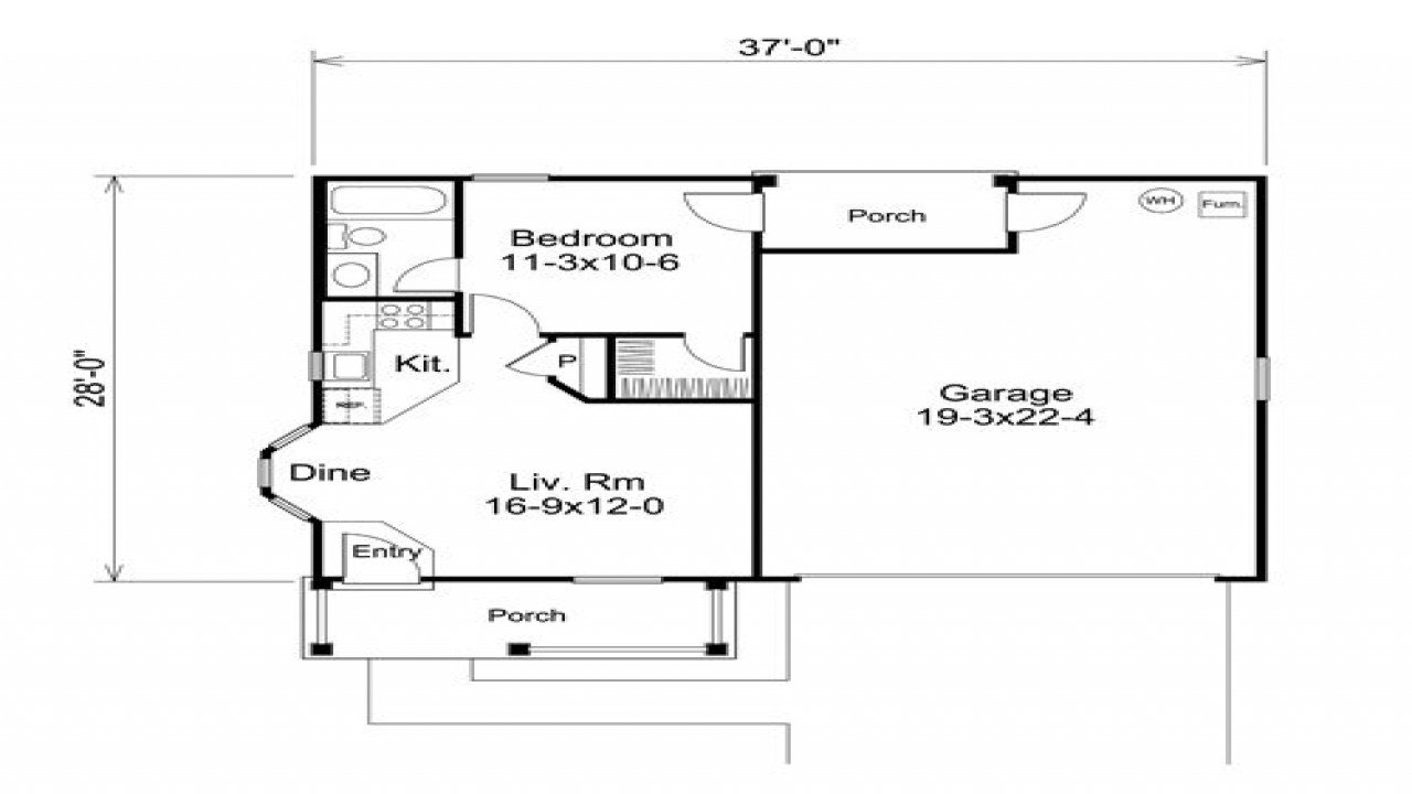 Best 2 Car Garage With Apartment Above 1 Bedroom Garage With Pictures