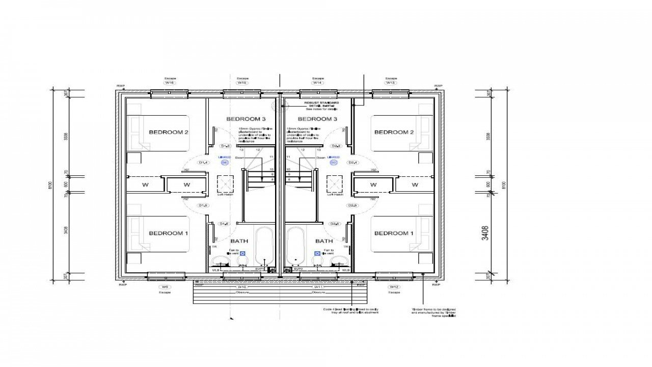 Best 2 Bedroom Semi Detached House Plans Terraced House Semi With Pictures