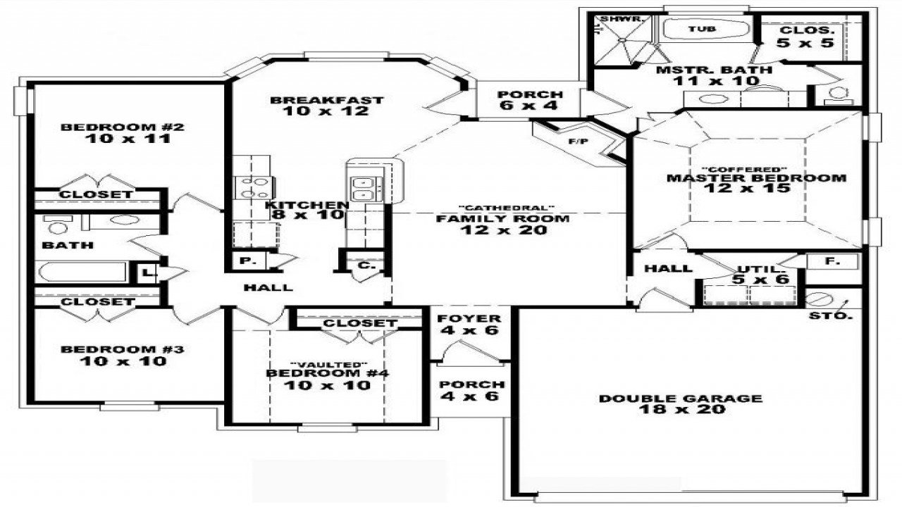 Best 9 Bedroom One Story 4 Bedroom One Story House Plans One With Pictures