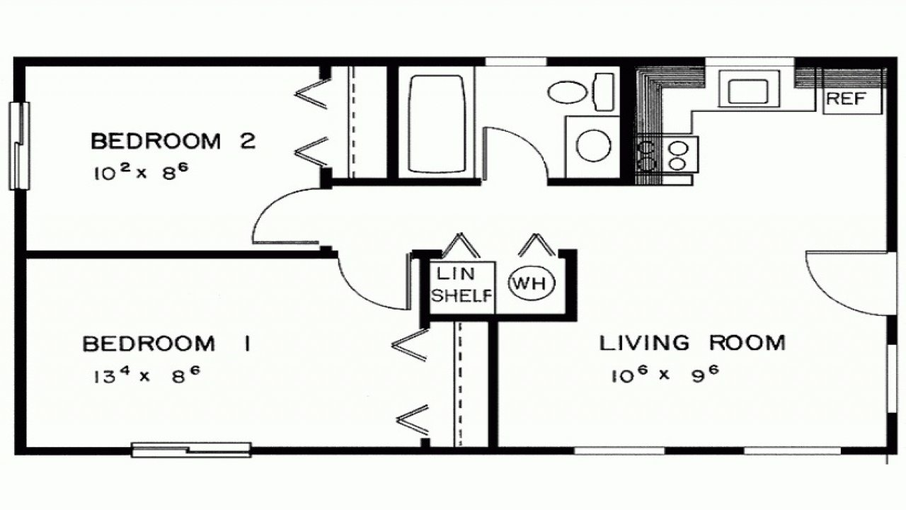 Best 2 Bedroom House Simple Plan Two Bedroom House Plans With Pictures