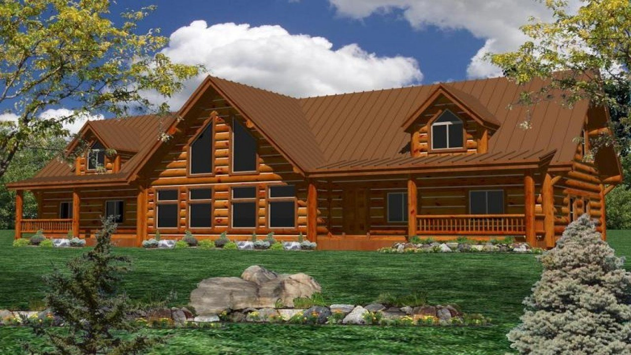 Best One Story Log Home Plans One Story Ranch Style Log Home With Pictures