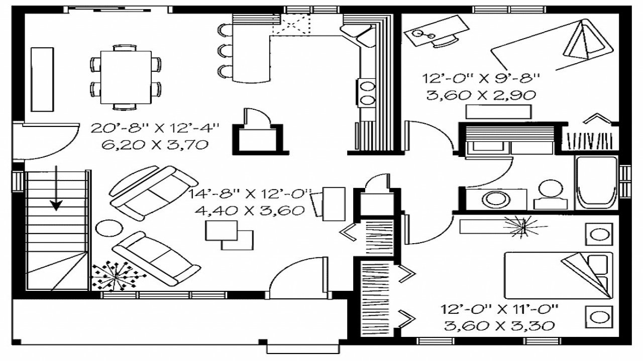 Best Simple House Plan With 2 Bedrooms Bestsciaticatreatments Com With Pictures
